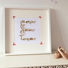 Framed Butterfly Letters, this would be so cute using your last name.