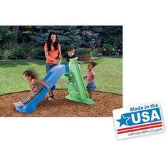 Little Tikes Easy Store Large Kids Folding Slide - Green/Blue   631283M