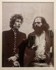 "#BobDylan and #AllenGinsberg #beatgeneration period. ( Larry Keenan) This photo and many others is exhibited in ""A LIFE: LAWRENCE FERLINGHETTI Beat Generation ribellione poesia"" exhibition (oct 7 - jan 14) at #SantaGiulia Museum in #Brescia. . #LawrenceFerlinghetti #poetry #activism #rebellion"