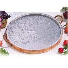 Bistecchiera in pietra ollare Ø 27 e bordo di Rame indicata per cotture alla pistra, bistecche, selvaggina