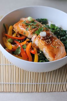 Salmon – Maple syrup and Dijon mustard make a sweet and savory glaze ...