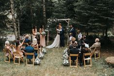 wedding boho Intimate Boho Wedding at Olympic National Park, WA Outside Wedding, Wedding In The Woods, Forest Wedding, Home Wedding, Small Garden Wedding, Cabin Wedding, Woods Wedding Ideas, Small Wedding Decor, Garden Wedding Ideas On A Budget