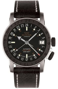 Glycine Watch Airman 17 Sphair #bezel-bidirectional #bracelet-strap-leather #brand-glycine #case-depth-10-75mm #case-material-steel #case-width-46mm #clasp-type-tang-buckle #date-yes #delivery-timescale-1-2-weeks #dial-colour-black #gender-mens #luxury #movement-automatic #official-stockist-for-glycine-watches #packaging-glycine-watch-packaging #style-dress #subcat-airman #supplier-model-no-3927-191 #warranty-glycine-official-2-year-guarantee #water-resistant-200m #world-time-yes