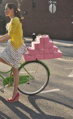 bicycle | adeline adeline/kate spade bike.  transporting sweets...my kind of girl