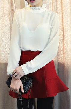 #dahong #blouse #romentic #see-through #다홍 #블라우스 #시스루 #로멘틱