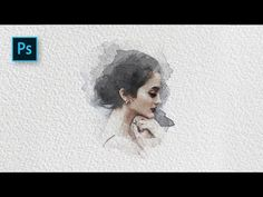 How to Create a Watercolor Painting Effect with Photoshop - Photoshop Tutorial - YouTube