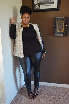 Do you watch Empire? Check out my Cookie-inspired fall outfit from ! Fall Looks, Curvy Fashion, Fall Outfits, What To Wear, Leather Pants, Autumn Fashion, Walmart, Curvy Style, Empire