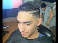 how to cut a combover, comb over hairstyle, comb over fade, scissor trim, combover with part