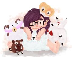 Amazing fan art featuring our Squishable Puppycat and friends!!! #squishable #plush #fanart