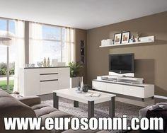 elegante salon moderno con tv y aparador