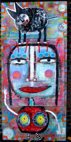"""""""Cat Walk"""" Crushed Can outsider artwork by Tracey Ann Finley. Got Cans?"""