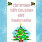 FREE Christmas Gift Coupons and Bookmarks! A variety of gift coupons that you can give to your students as a Christmas gift, along with six different styles of bookmarks!