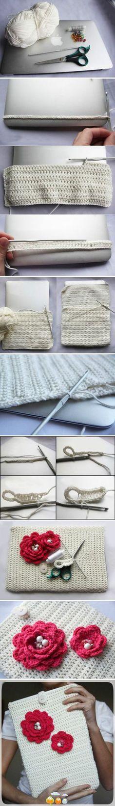Crochet Cover Ipad - Photo Tutorial * ✿⊱╮Teresa Restegui http://www.pinterest.com/teretegui/✿⊱╮