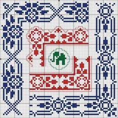Corners - Charts for cross stitch and filet crochet. Cross Stitch Borders, Cross Stitch Charts, Cross Stitching, Cross Stitch Embroidery, Embroidery Patterns, Cross Stitch Patterns, Knitting Charts, Knitting Patterns, Knit Stranded