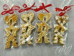Gingerbread glass markers./Karácsonyi mézeskalács pohárdíszek.