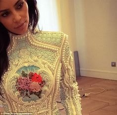 I love this dress! Kim Kardashian bachelorette dress on May 2014 in Paris, France. Before wedding. Kim Kardashian Kanye West, Kim Kardashian Balmain, Kardashian Style, Kardashian Jenner, Love Fashion, Girl Fashion, Fashion Looks, Fashion Killa, Wedding Gallery