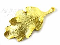 Hoja colgante 22K Gold Plated hoja colgante por turkisheyesupply