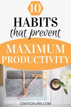 Do you struggle with achieving maximum productivity? Find out how you can achieve higher levels of productivity and get more done in less time today! #productivity #productivitytips #productivityhacks #productivehabits #lifehacks #getstuffdone