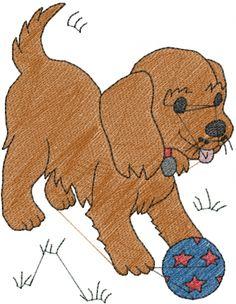 Puppy Ball Embroidery Design | AnnTheGran