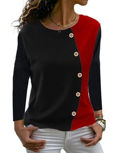 Mode Outfits, Trendy Outfits, Latest Fashion Clothes, Fashion Outfits, Cheap Womens Tops, Trendy Tops, Shirt Blouses, Long Sleeve Shirts, Clothes For Women