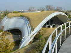 Grin Grin Park is a pilot project designed by Toyo Ito. It is located on Island City, in Hakata Bay, north of Fukuoka