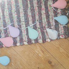 Pastel colour choices for this cute raindrop garland