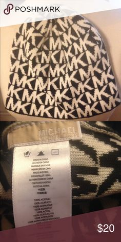 Michael kors black and white hat BNWOT Brand new without tag black and white Michael kors hat KORS Michael Kors Accessories Hats