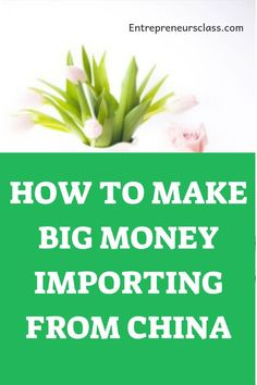 Want to learn how to make money importing from China and sell in USA? We share some great tips and step by step guide on how to start a profitable ecommerce business by importing from China. E Commerce Business, Small Business Marketing, Online Business, Marketing Ideas, Work From Home Jobs, Money From Home, Promo Gifts, Import From China, Big Money