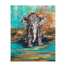 Elephant Print Hope Animal Baby Nursery Decor by galleryzooart, $24.00
