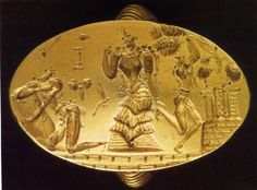 Late Minoan gold ring from Archanes