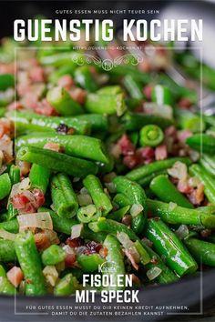 Dieses einfache Rezept für Fisolen mit Speck steht den adeligen Princessbohnen im Speckmantel, was im Grunde genommen nichts anderes ist, um nichts nach und ist schneller und einfacher gekocht. Ich könnt mich reinlegen! #food #recipes #rezepte #yummy #ideen Kiss The Cook, Green Beans, Vegetables, Cooking, Food, Salads, Budget Cooking, Veggie Food, Good Food