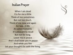 Indian Funeral Prayer