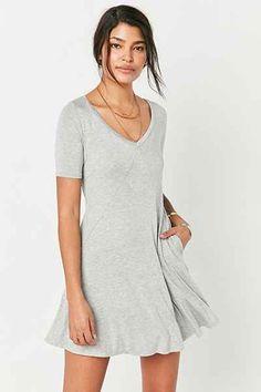 Silence + Noise Seamed Knit Frock Dress