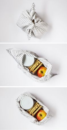 Production catering DIY Bento (Mittagessen) Tasche - Pointful Things Once you've decided on a space Diy Sewing Projects, Sewing Hacks, Sewing Crafts, Fabric Gifts, Fabric Bags, Diy Trousse, Furoshiki, Bento, Diy Crafts To Sell