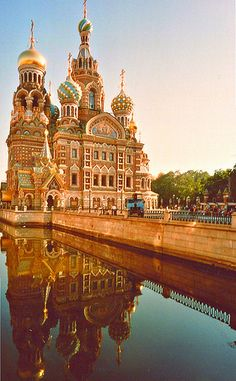 Church of the Savior on Blood in Saint Petersburg (Russia)...Really cool church, really cool city!