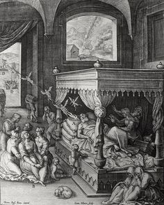 Luke in the Phillip Medhurst Collection 420 The parable of the rich man and Lazarus: Dives and Lazarus die Luke 16:22 Passeri on Flickr. A print from the Phillip Medhurst Collection of Bible illustrations, published by Revd. Philip De Vere at St....