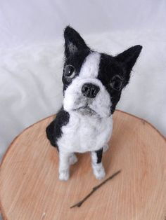 needlefelted boston terrier 'Minnie'
