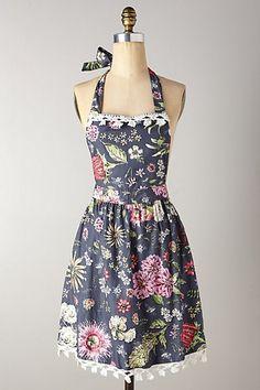 Floral Anthro apron
