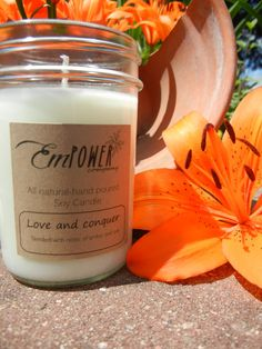 All natural soy wax candle  Amber and oak  by EmPowerCompany, $14.75