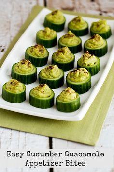 Easy Cucumber Guacamole Appetizer Bites found on KalynsKitchen.com