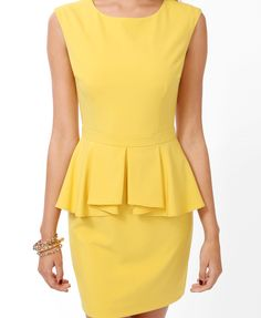 Cascading Peplum Dress | FOREVER21 - 2040495046