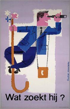 Bücher Cromières, 1956. for Nationaal Frans Verkeersbureau.