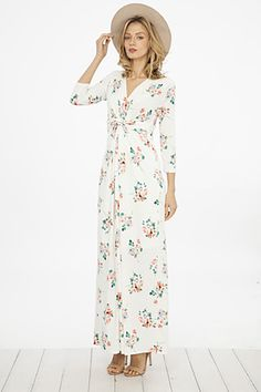 This dress has a classy, but casual look. V neck and accented detailing in the front. 94% RAYON, 6% SPANDEX MADE IN USA