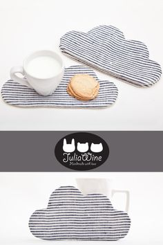 Striped Coaster for cups, Cloud Drink Coaster, Kitchen Accessory