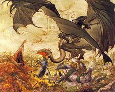 Eowyn and the Witch King of Angmar, Michael William Kaluta