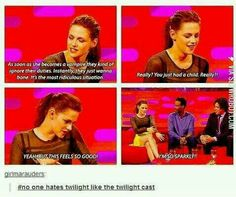 Even the cast hate Twilight // funny pictures - funny photos - funny images - funny pics - funny quotes - Twilight Hate, Twilight Jokes, Twilight Series, Funny Quotes, Funny Memes, Lol, Vampires, Found Out, Tumblr Funny