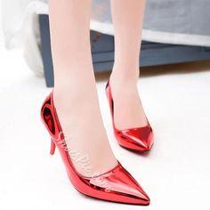Shoespie - Shoespie Shoespie Shine Mid Heel Prom Shoes - AdoreWe.com