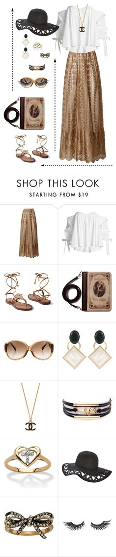 """Untitled #2781"" by tarakaypoly ❤ liked on Polyvore featuring Caroline Constas, Venus, Louis Vuitton, Marni, Palm Beach Jewelry, Marc Jacobs and Napoleon Perdis"