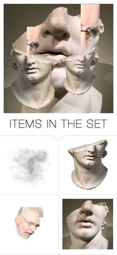 """""""FACEOFF/FACE/ON # 115: PERGAMON"""" by harrylyme ❤ liked on Polyvore featuring art"""