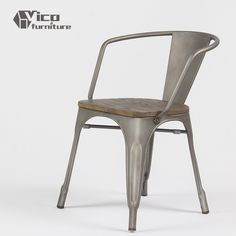hot selling best price steel iron frame modern design vintage dining metal chair